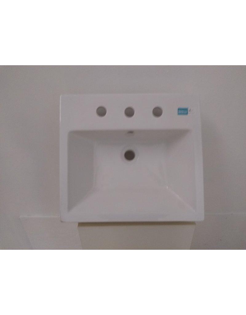 Oshawa Flush Mount Sink White