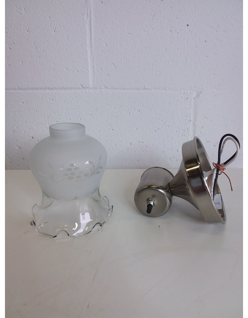 North York Brushed Nickel Wall Sconce