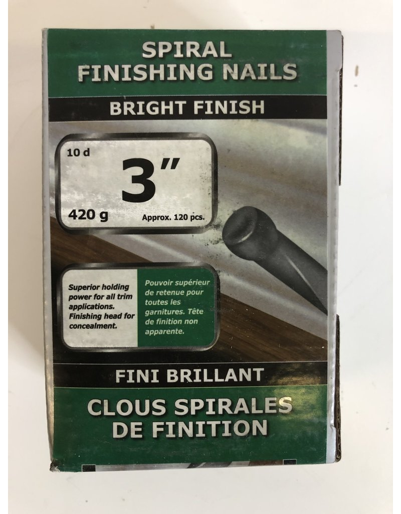 "North York 3"" Spiral Finishing Nails"