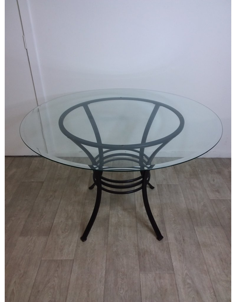 Studio District Glass Top Table