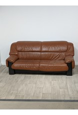 Newmarket Faux Brown Leather Sofa