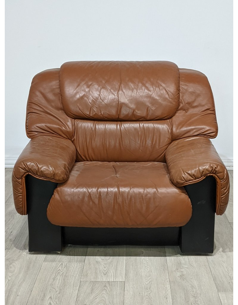 Newmarket Faux Brown Leather Armchair
