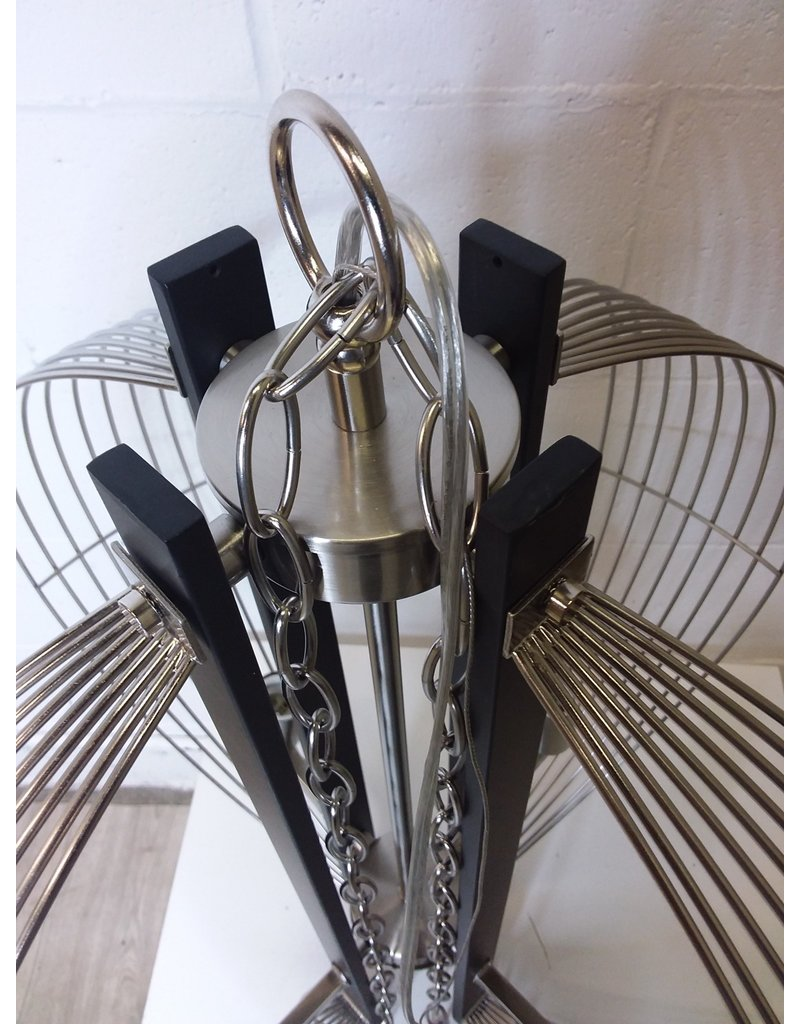 North York Black and Silver Chandelier