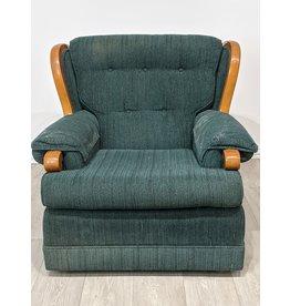 Newmarket Green Fabric Armchair