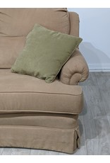 Newmarket Beige Fabric Love Seat