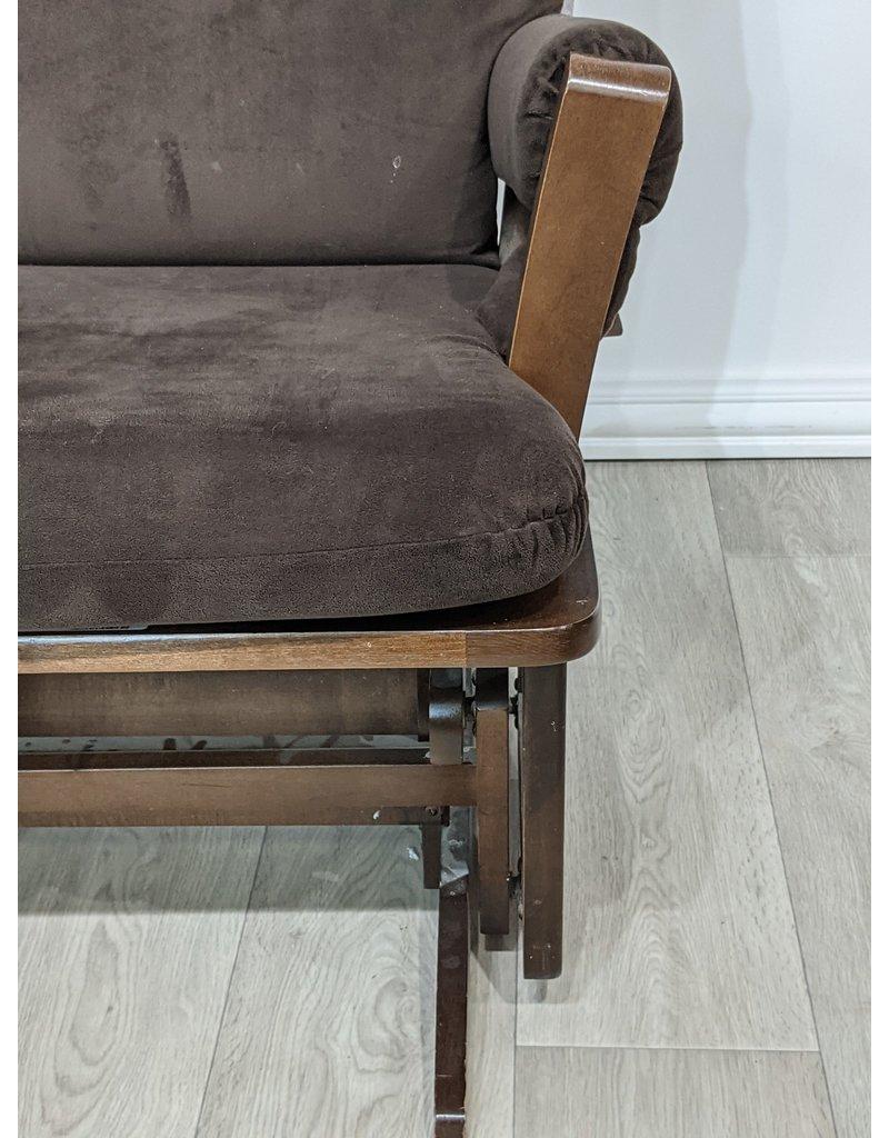 Newmarket Brown Suede Rocking Chair & Ottoman
