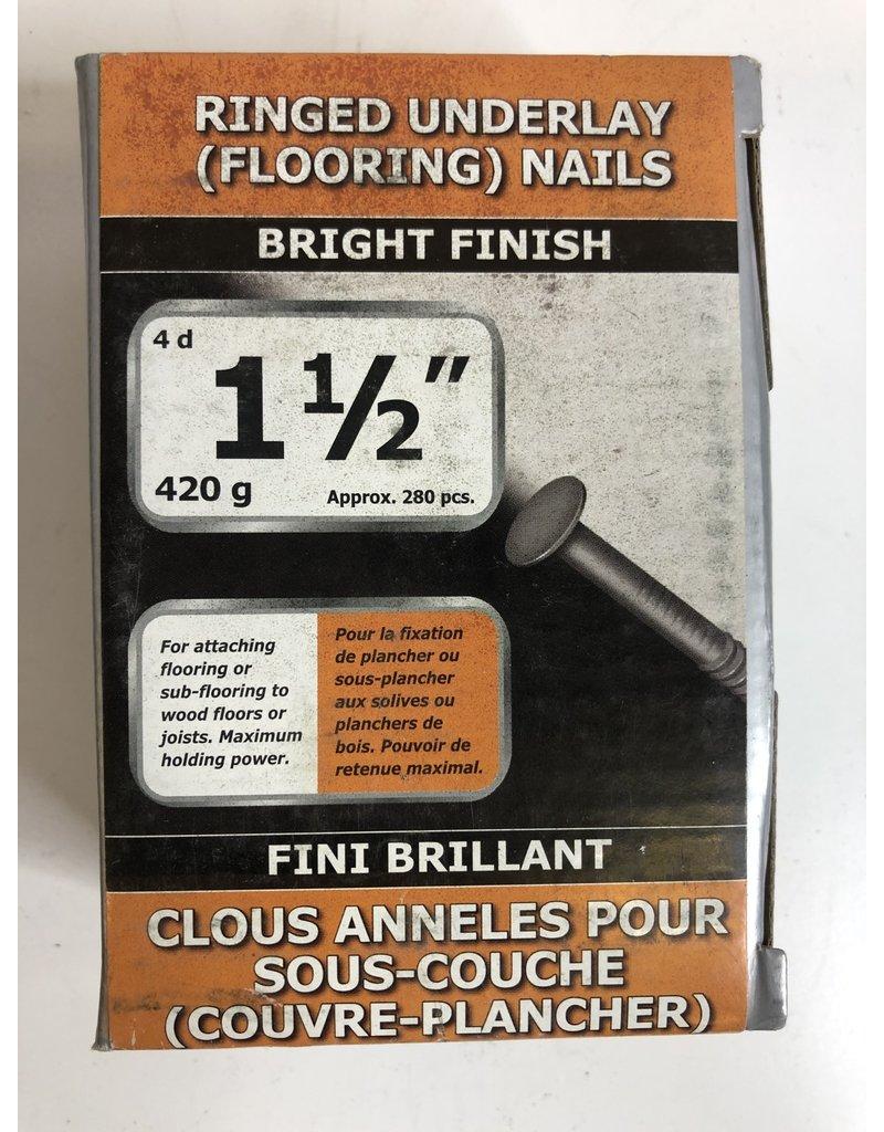 "North York 1-1/2"" Ringed Underlay (Flooring) Nails"