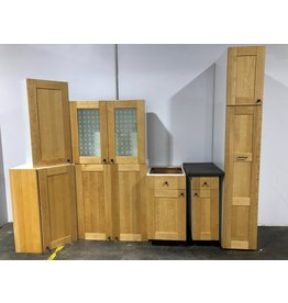 Etobicoke Set Of Kitchen Cabinet In Light Brown