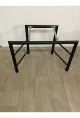 Studio District 3 Tier Metal Stand and  Glass  Top TV Stand