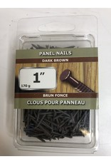 "North York 1"" Dark Brown Panel Nails"
