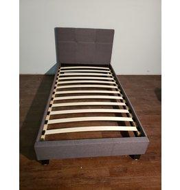 Woodbridge Grey Upholstered Single Bed Frame