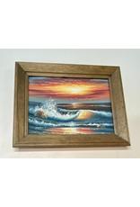 Woodbridge Beach Painting in Wood Frame