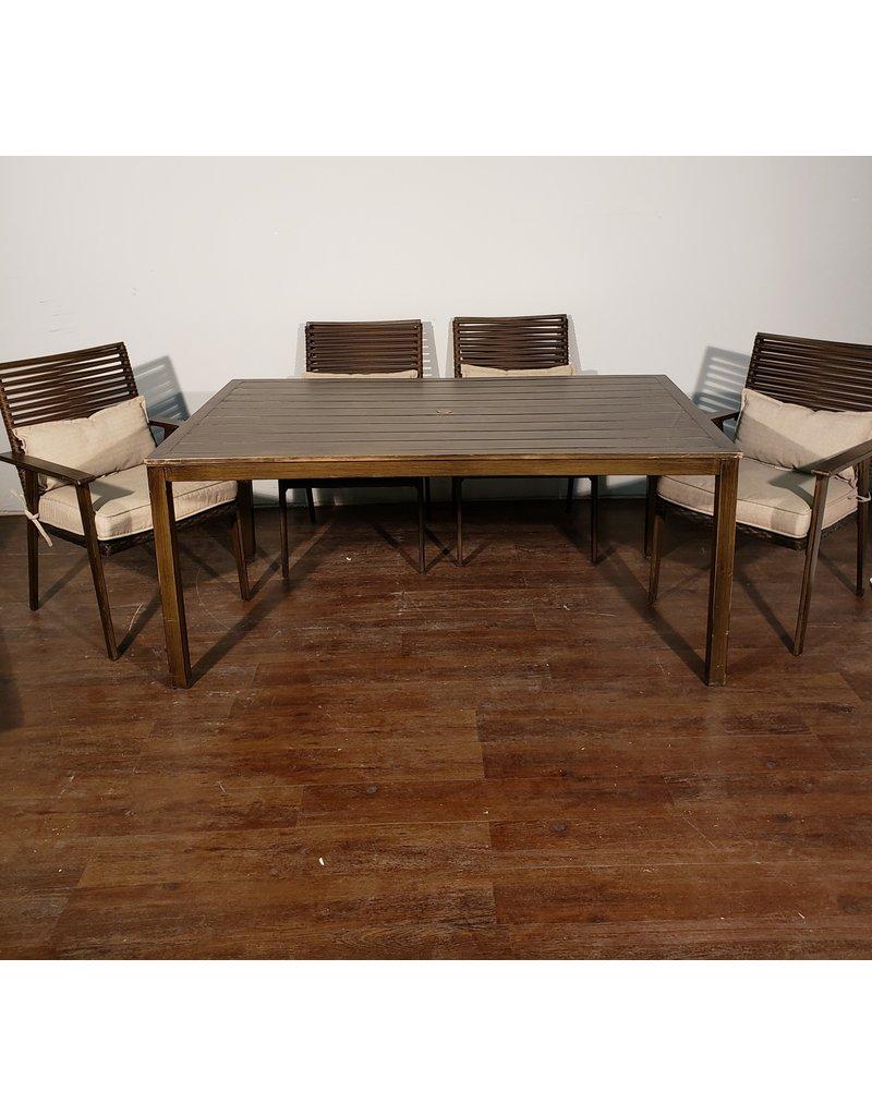 Woodbridge 7 pc Aluminum Outdoor Dining Set