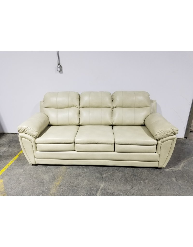 Etobicoke 3 Seater White Leather Couch