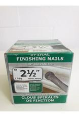 "North York 2-1/2"" Spiral Finishing Nails"