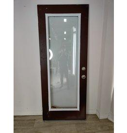 Markham West Exterior Wooden Door with Glass Insert