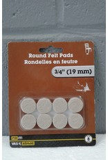 "Brampton 3/4"" Round Felt Pads"