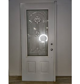 Markham West Exterior Door With Floral Glass Insert