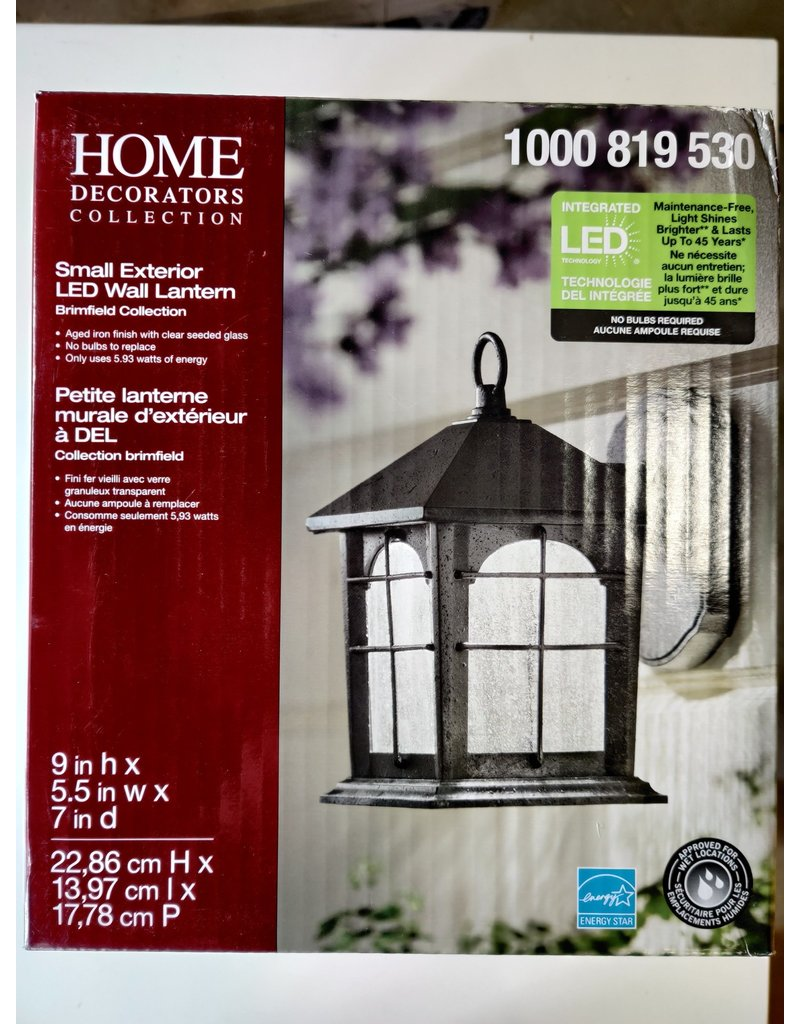 Markham West Aged Iron Outdoor LED Wall Lantern Sconce