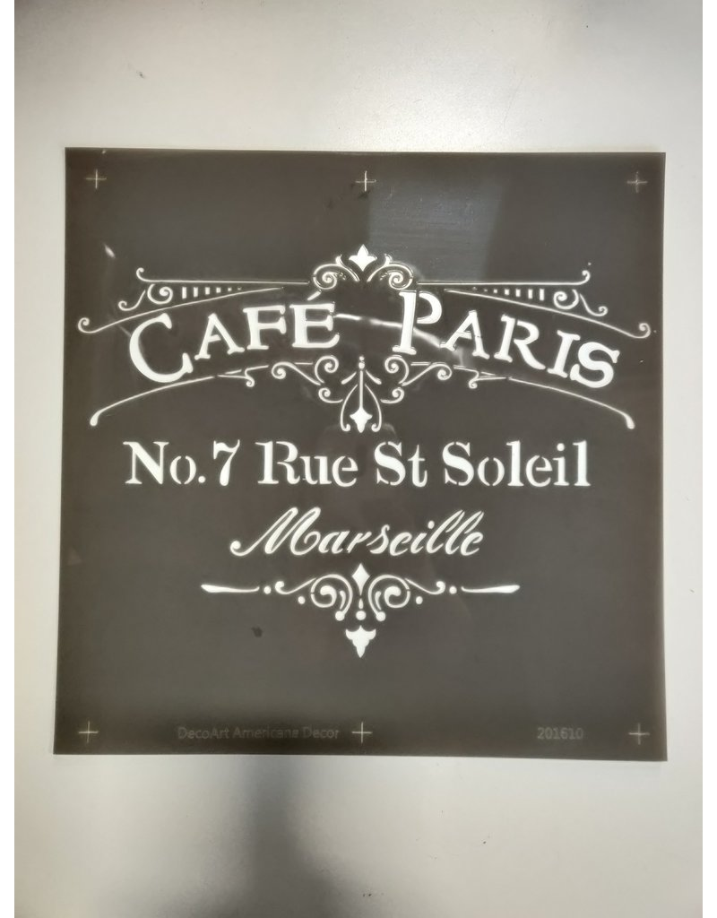 Markham West Cafe Paris Stencil