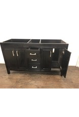 "Uxbridge 59"" Brown Double Sink Vanity"