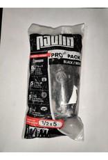 Markham West 1/2-inch x 5-inch Pro Pack Black Carriage Bolt (5 Sets)