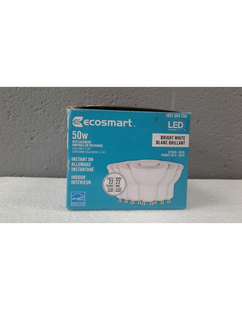Brampton 50W Equivalent Bright White Dimmable LED Light Bulb - 6Pack