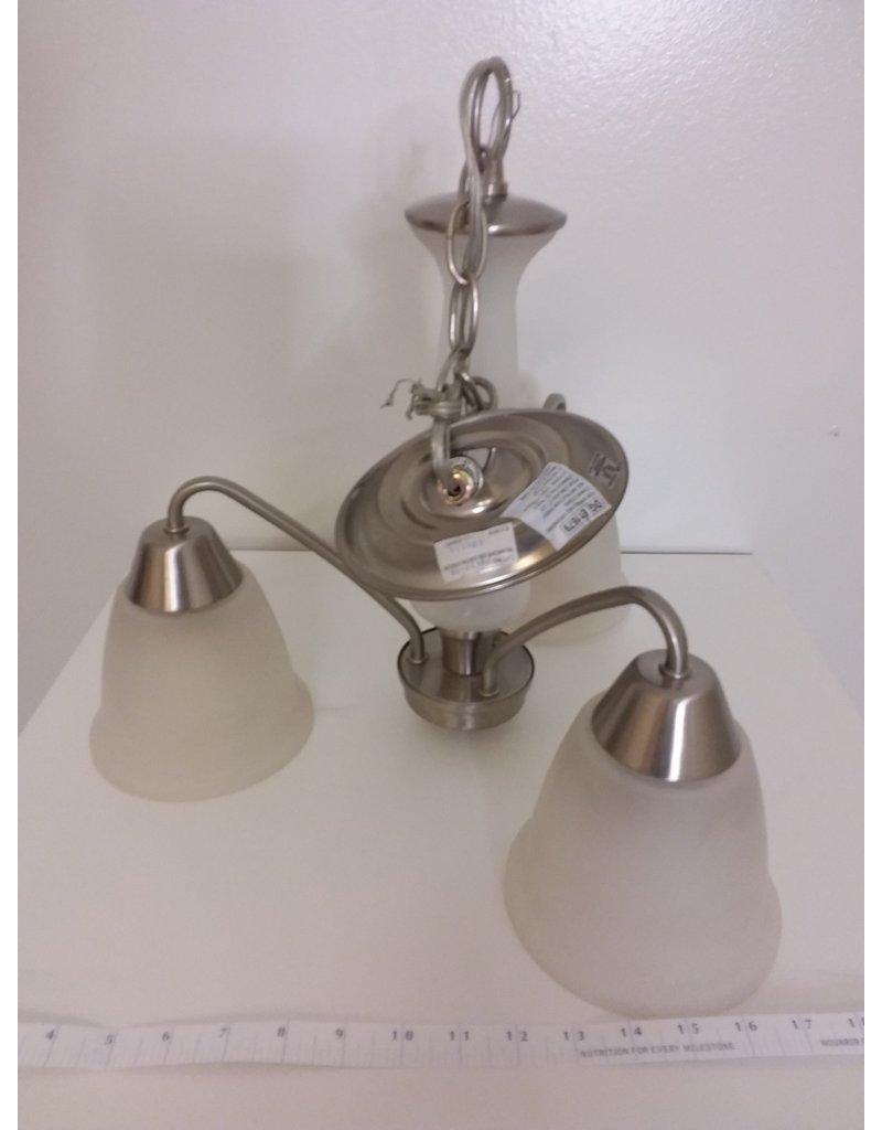 Vaughan Bedford 3-Light Brushed Nickel Chandelier