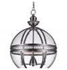 Studio District CWI Lighting 9714P17-3-606 Lune 3 Light Up Chandelier with Satin Nickel finish