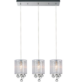 Studio District CWI Lighting Radiant 24-inch 3 Light Chandelier with Chrome Finish