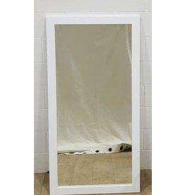 """East York White framed mirror - 25"""" x 55"""""""