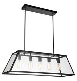 Studio District Alyson 5 Light 36 inch Black Down Chandelier Ceiling Light