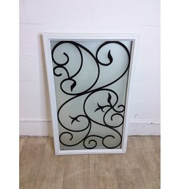 """North York New Frosted Door Insert with Fancy Design  22"""" x 36"""""""