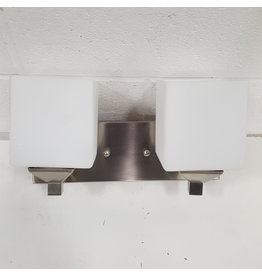 East York Brushed chrome wall sconce