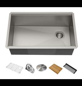 """Vaughan KRAUS 32"""" Single Bowl Kitchen Sink Set"""