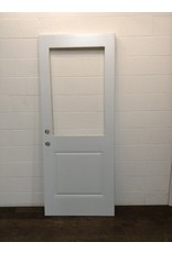 "Uxbridge 31 3/4"" x 79"" White 1/2 Lite Cut Door"