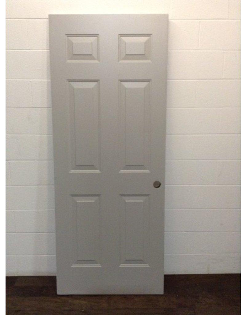 """Uxbridge 31 3/4"""" x 79"""" Grey 6-Panel Door"""
