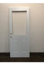 """Uxbridge 31 3/4"""" x 79"""" White 1/2 Lite Cut Door"""