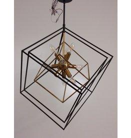 Vaughan 3 Geometric Black / Gold Cubes Light Fixture