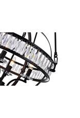 Studio District 4 Light Chandelier with Black Finish