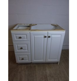North York White Veneer Vanity Cabinet