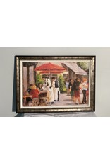Woodbridge Cafe Painting in Frame
