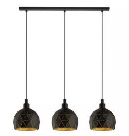 Brampton 3-Light Gold Finish Pendant Light