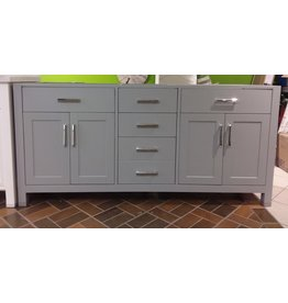 "Vaughan Kalize 72"" Light Grey Vanity - No Top"