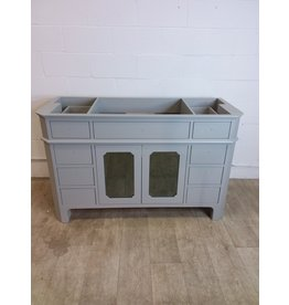 "North York 54 1/2"" Grey Vanity Cabinet with Glass Doors"