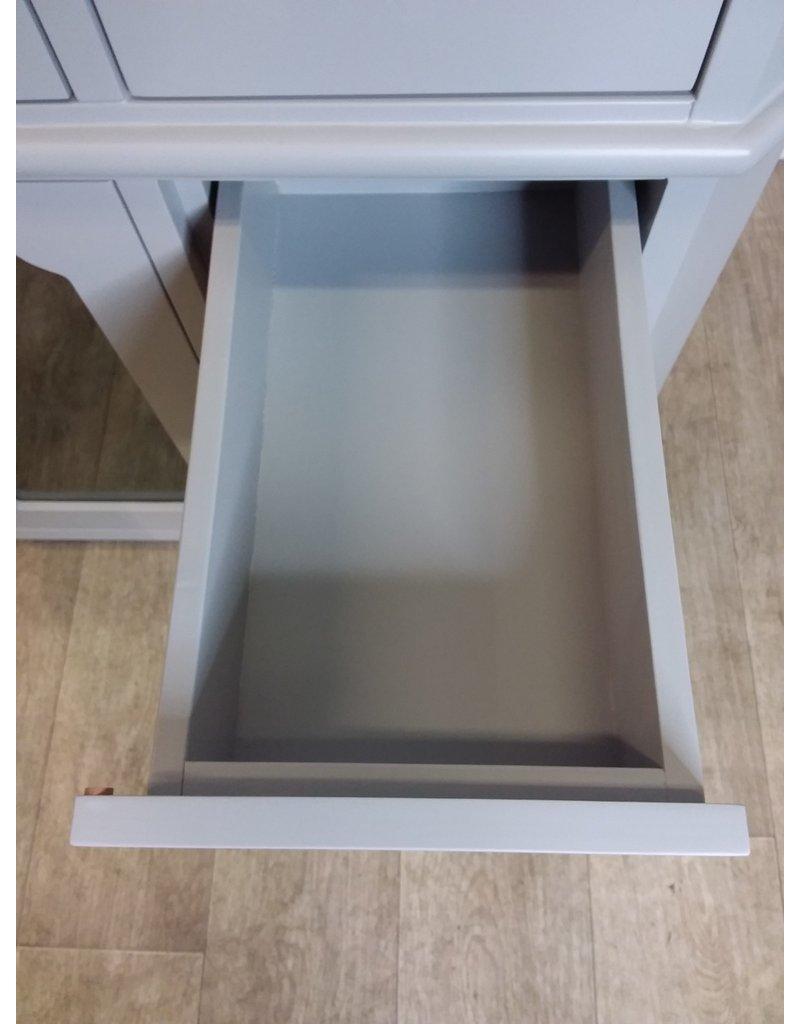 "North York 54 1/2"" Grey Vanity Cabinet with Glass Doors"
