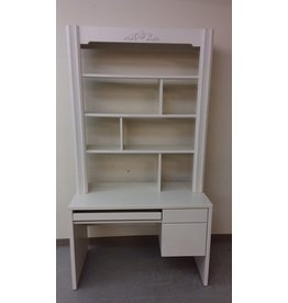 Vaughan White Study Desk with Shelving