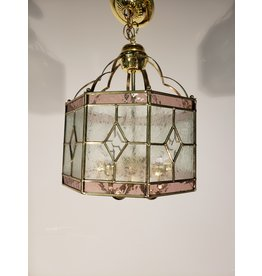 Woodbridge Rose, Clear, Frosted Glass and Brass 5 Light Pendant