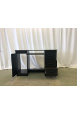 Scarborough Black 3-Drawer Desk
