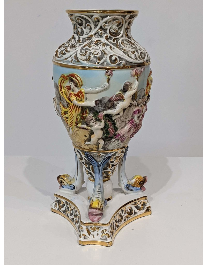 Newmarket Capodimonte Porcelain Vase